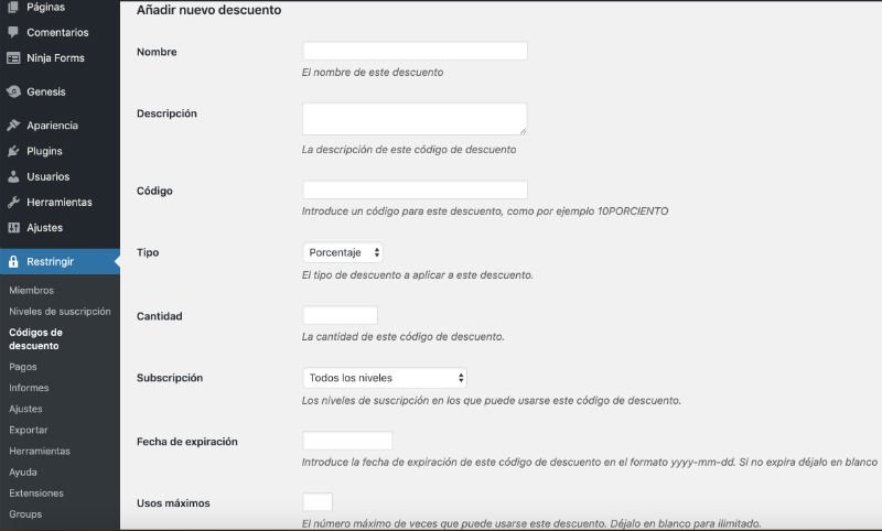 descuentos-restrict-content-pro